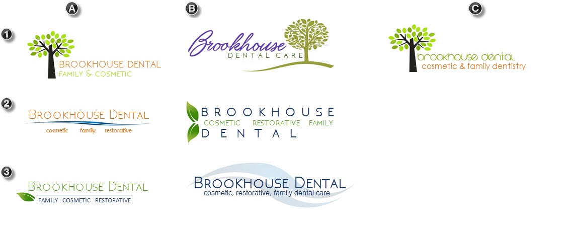 brookhouse logo design comps