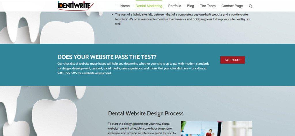 dental website parallax design element