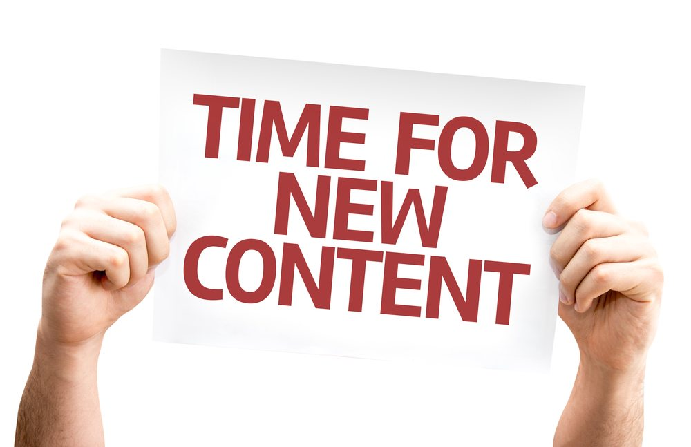 time for new content sign