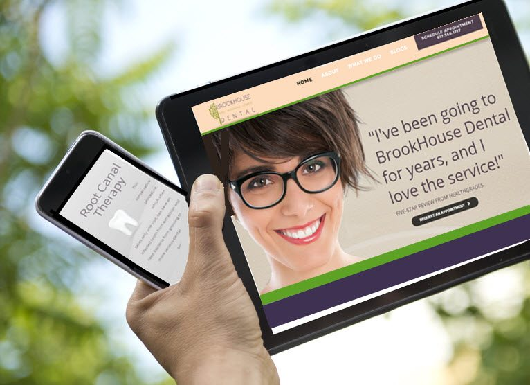 Dental Marketing Company shows responsive dental website