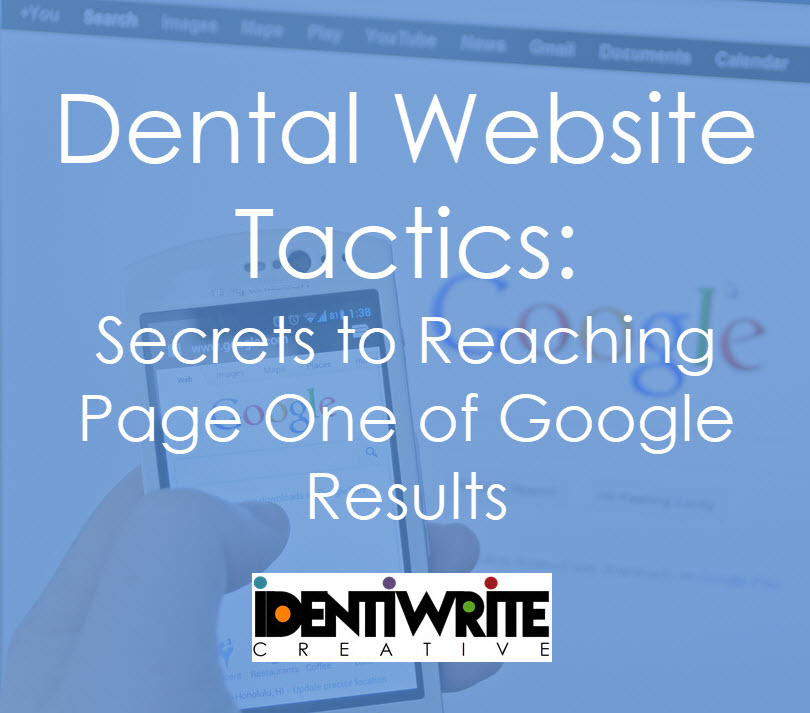 dental website tactics