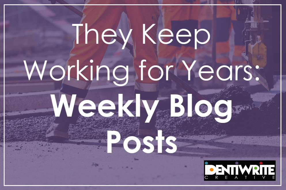 weekly blog posts ad