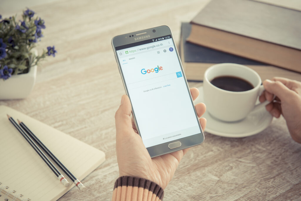 google search improved with schema markup and coffee